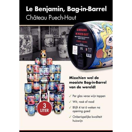 Puech Haut Le Benjamin Rood 3 Ltr Tonnetje 2018