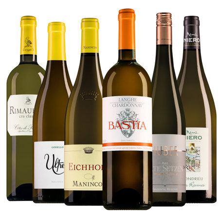 Musterpaket mit wunderschönen Luxus-Weißweinen