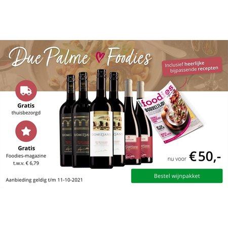 Weinpaket Due Palme mit kostenlosem Foodies Magazin