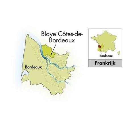 Château Cap Saint Martin Blaye Côtes de Bordeaux halve fles 2018