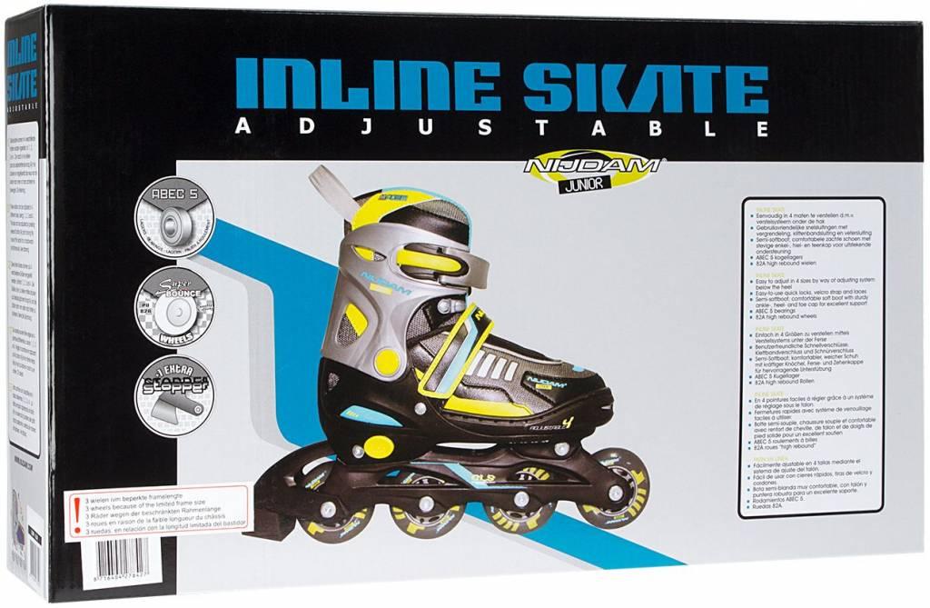 Inlineskating Nijdam 52SP Inliner Junior Inlineskates Kinder Inline Skates verstellbar 27-30