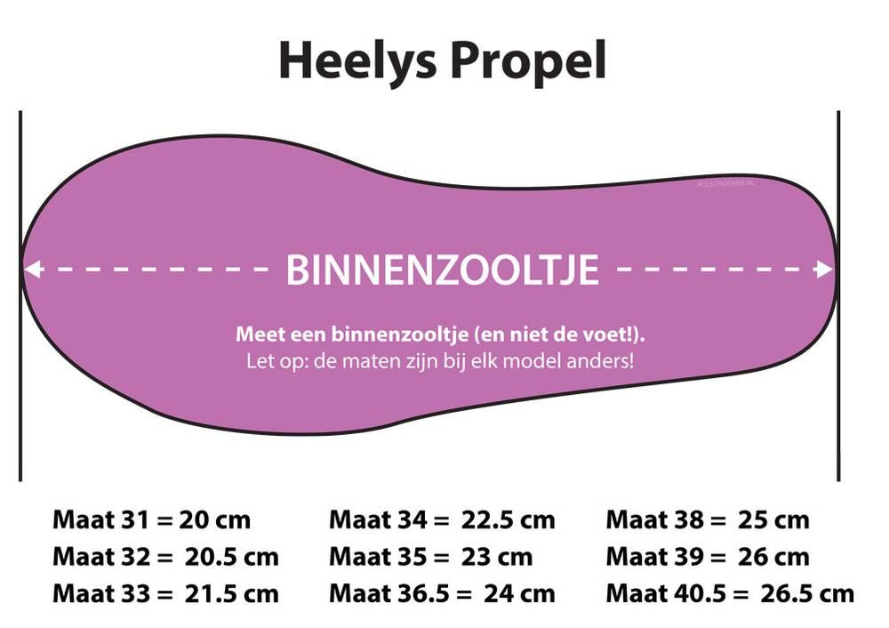 HEELYS PROPEL 2.0 ZWART/GUM
