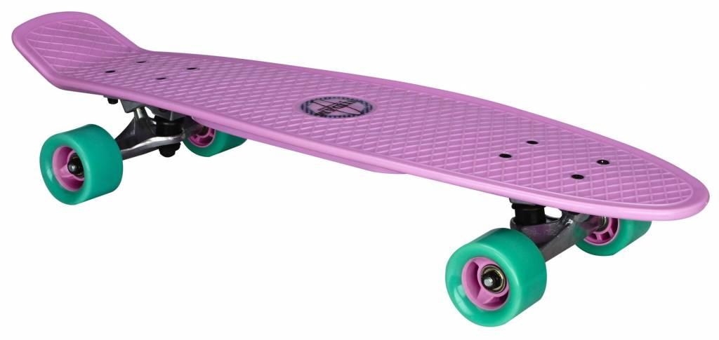 """NIJDAM Flip Grip pennyboard, 28"""" Lila/mint/grün"""