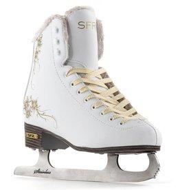 SFR SFR GLITRA ICE SKATES, WHITE/GOLD