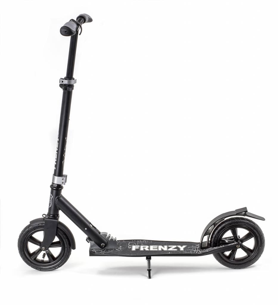 FRENZY Frenzy Scooter Pneumatic 205mm Cityroller, Schwarz 10+