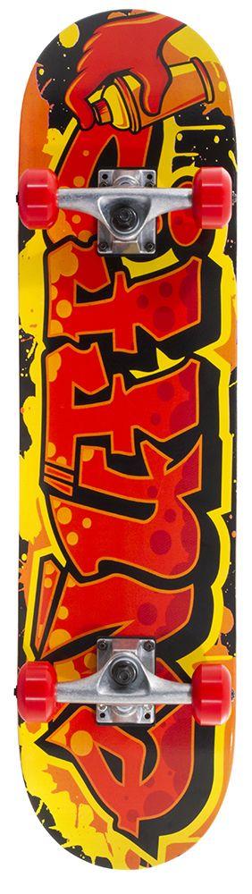 ENUFF SKATEBOARDS ENUFF GRAFFITI II COMPLETE SKATEBOARD, ROOD/GEEL