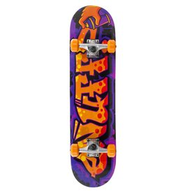 ENUFF SKATEBOARDS ENUFF GRAFFITI II COMPLETE SKATEBOARD, ORANGE/PURPLE