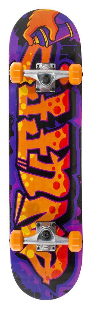 ENUFF SKATEBOARDS ENUFF GRAFFITI II COMPLETE SKATEBOARD, ORANJE/PAARS