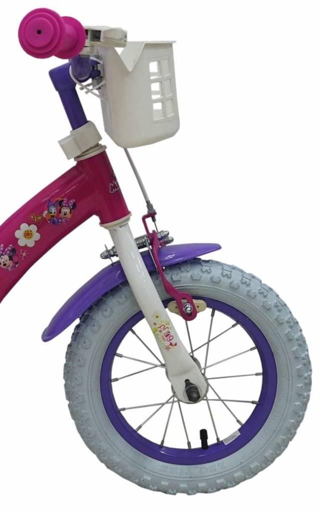 DISNEY  Disney Minnie Bow-Tique 12 inch meisjesfiets met 2 handremmen