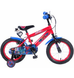 SPIDERMAN Ultimate Spider-Man Kinderfahrrad 14 Zoll mit 2 Handbremsen