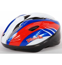 VOLARE Yipeeh Kinder Fahrradhelm Deluxe Rot Blau Weiß