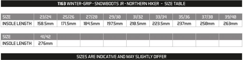 WINTER GRIP SNOWBOOTS JR • NORTHERN HIKER •