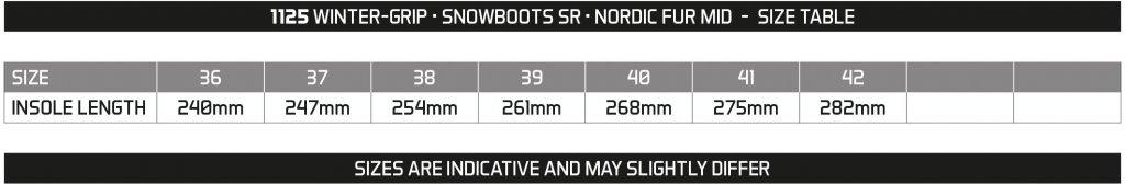 WINTER GRIP SNOWBOOTS SR • NORDIC FUR MID •