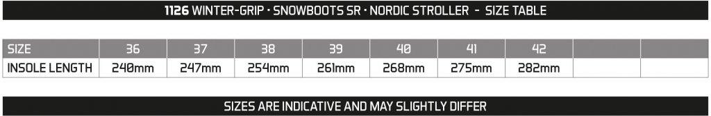 WINTER GRIP SNOWBOOTS SR • NORDIC STROLLER •