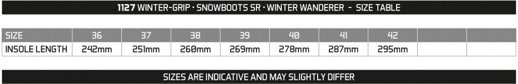 WINTER GRIP SNOWBOOTS SR • WINTER WANDERER •