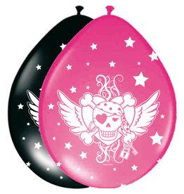 Luftballons Piratenmädchen / 8St