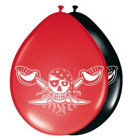 FOLAT Luftballons Piratenmädchen / 8St
