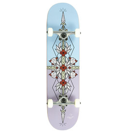 ENUFF SKATEBOARDS ENUFF FLASH COMPLETE SKATEBOARD, PAARS / BLAUW