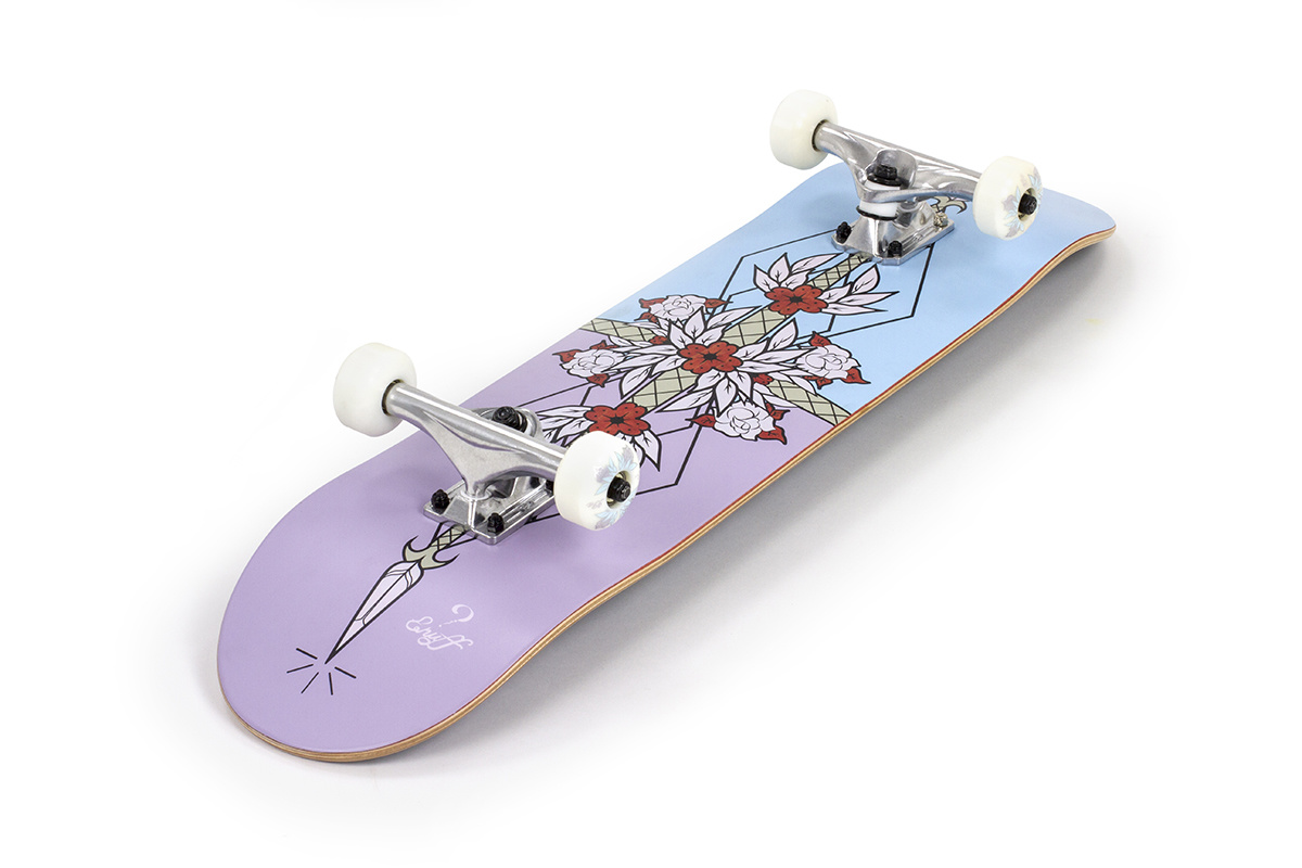 ENUFF SKATEBOARDS ENUFFF FLASH COMPLETE SKATEBOARD, LILA / BLAU