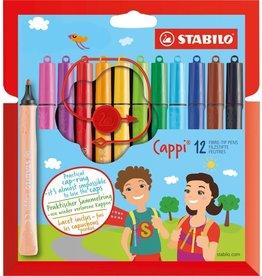STABILO VILTSTIFTEN STABILO CAPPI: 12 STUKS