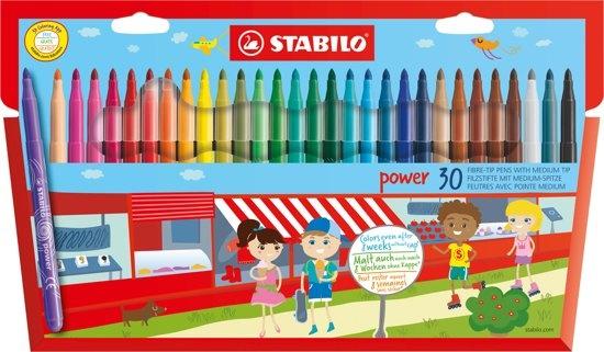 STABILO VILTSTIFTEN STABILO POWER: 30 STUKS