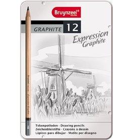 BRUYNZEEL GRAPHITBLEISTIFTE IN DOSE AUSDRUCK: 12 STÜCK