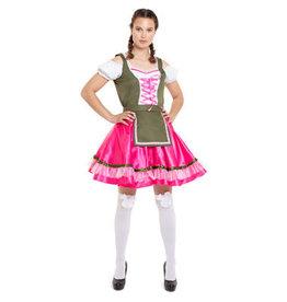 OKTOBERFEST OKTOBERFESTKLEID / DIRNDL KLASSICH PINK-GRÜN - GRÖßE XXL