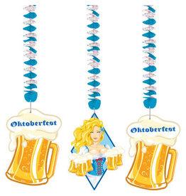 OKTOBERFEST OKTOBERFEST BIERPULLEN HANGDECORATIE - 3 STUKS