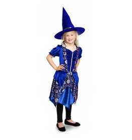 HALLOWEEN HEXENKLEID MIT HUT DARK MOON - KINDERGROßE S