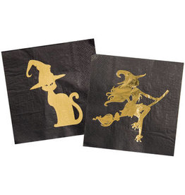 HALLOWEEN SERVETTEN GOLDEN WITCH - 20 STUKS