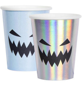 HALLOWEEN BEKERS PAPIER CREEP PASTEL 250ML - 6 STUKS