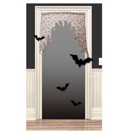 HALLOWEEN DEUR DECORATIE SPINNENWEB