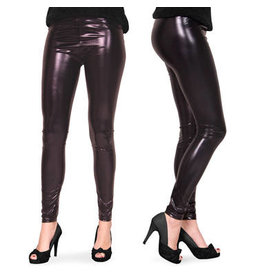 HALLOWEEN LEGGING METALLIC ZWART S-M