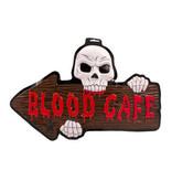 HALLOWEEN 3D DEURBORD BLOOD CAFÉ HALLOWEEN