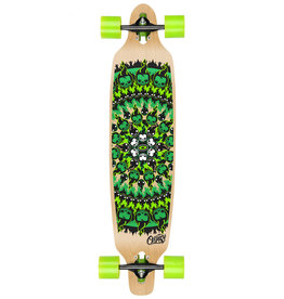 "OSPREY OSPREY FLAME SKULL 39""  DROPTROUGH LONGBOARD"