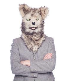 HALLOWEEN WOLF MASKER MET BEWEGENDE MOND