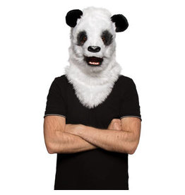 HALLOWEEN PANDA MASKE MIT BEWEGLICHEM MUND