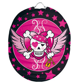SINT MAARTEN LAMPION PINK PIRATE GIRL - BOLVORM 22CM