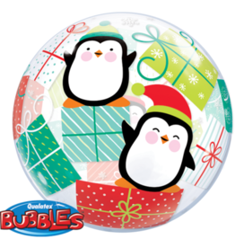 KERSTMIS 22INCH/56CM BUBBLE PENGUIN PRESENTS