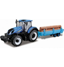 BBURAGO TRACTOR BBURAGO: NEW HOLLAND + TRAILER 1:32