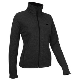 AVENTO DAMES WINDPROOF FLEECE JACK, ZWART