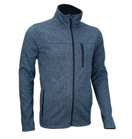 AVENTO HEREN WINDPROOF FLEECE JACK, DENIMBLAUW