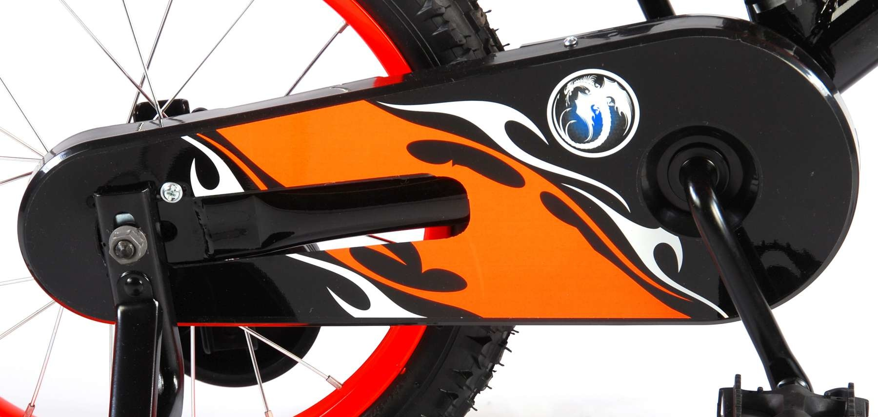 VOLARE VOLARE MOTORBIKE KINDERFIETS 16 INCH, ORANJE