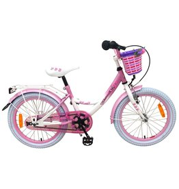 VOLARE ROSE KINDERFIETS 18 INCH, WIT/ROZE