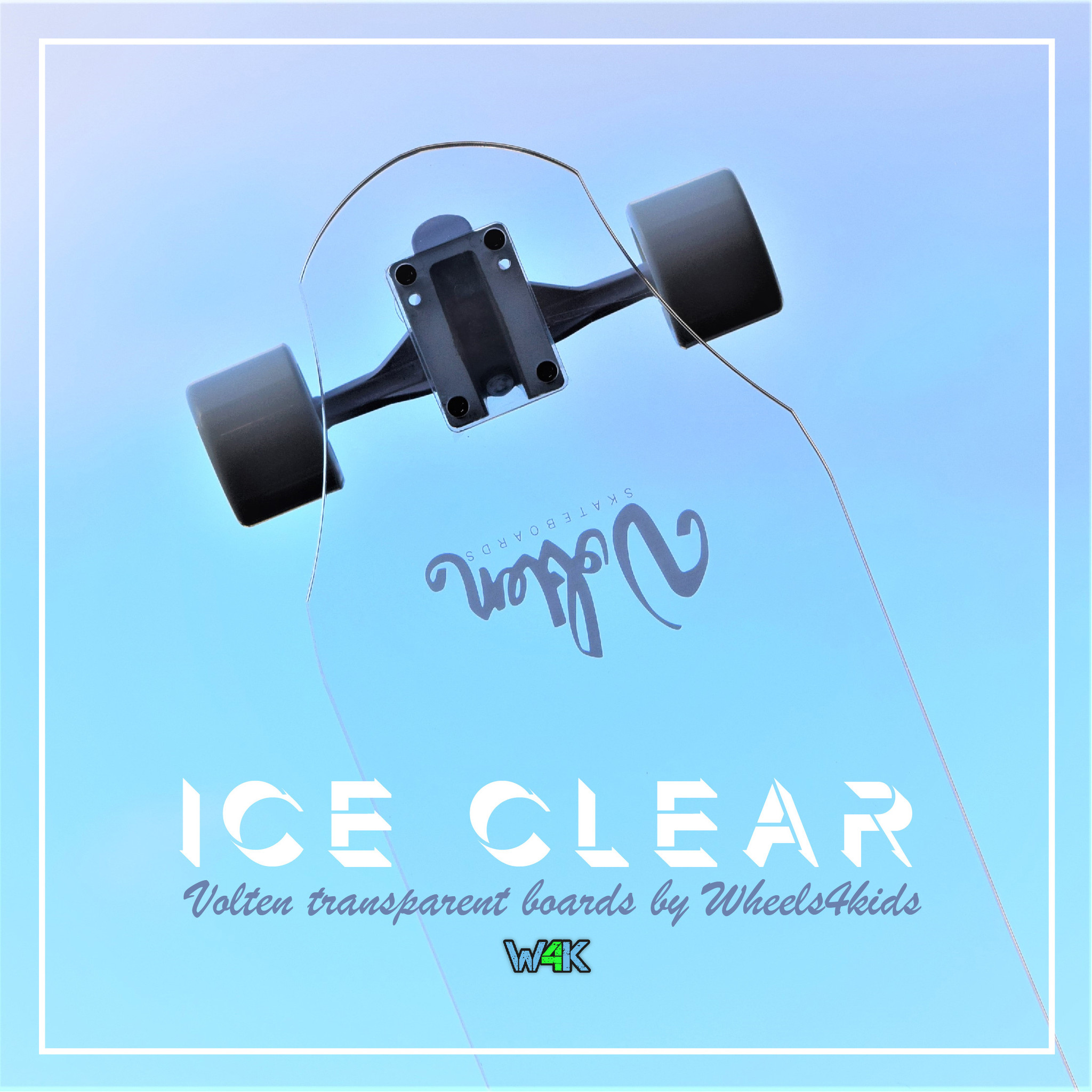 VOLTEN VOLTEN ICE CLEAR LONGBOARD, TRANSPARANT