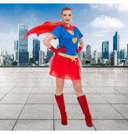 CARNAVAL SEXY SUPER WOMAN OUTFIT DAMES-MAAT S-M