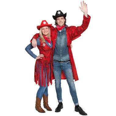 CARNAVAL RODE COWBOY JAS-ONE SIZE