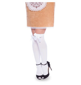 CARNAVAL SEXY WITTE STAY UP STOCKINGS MET STRIK