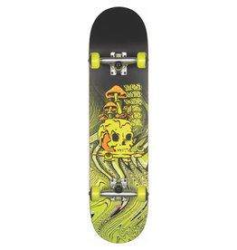 GLOBE GLOBE G1 NATURE WALK COMPLETE SKATEBOARD, BLACK/TOXIC YELLOW