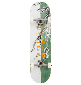 ENUFF SKATEBOARDS ENUFF CHERRY BLOSSOM COMPLETE SKATEBOARD, WHITE/TEAL